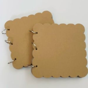 Pair of new scalloped chipboard albums.